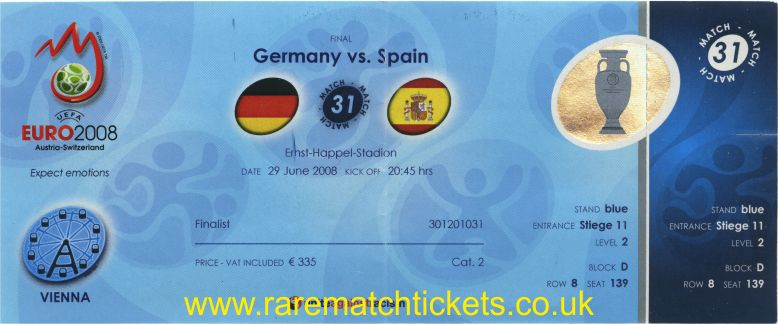 2008 ec final SPAIN 1 GERMANY 0 (unused) [flags]