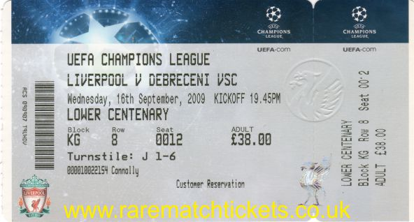 2009-10 cl grE m1 LIVERPOOL 1 DEBRECENI 0 (unused) [ms]