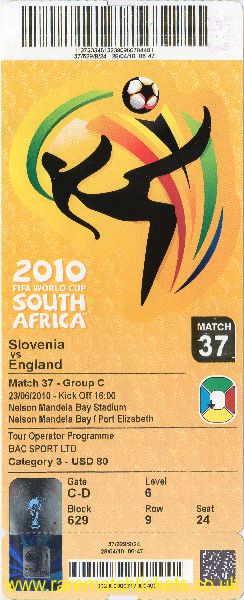 2010 wc grC m3 ENGLAND 1 SLOVENIA 0 (unused)
