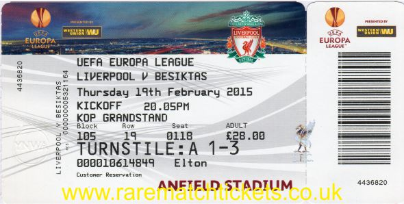 2014-15 el l32 1st LIVERPOOL 1 BESIKTAS 0 (unused)