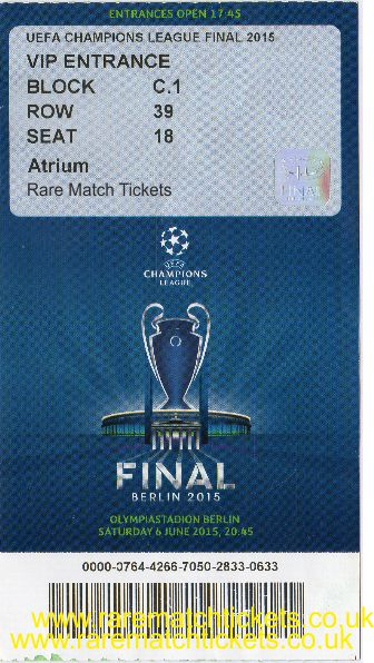2015 cl final BARCELONA 3 JUVENTUS 1 PERSONALISED