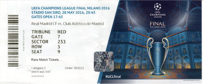 2016 cl final REAL MADRID 1 ATLETICO MADRID 1 PERSONALISED