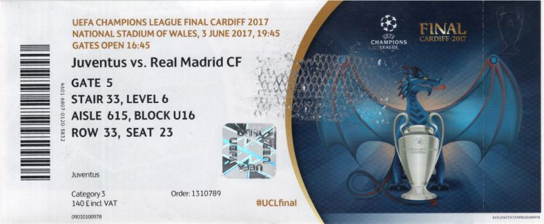 2017 cl final REAL MADRID 4 JUVENTUS 1 (unused)