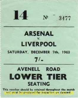 1963-64 div1 m20 ARSENAL 1 LIVERPOOL 1