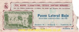 1966 ic final 2nd REAL MADRID 0 PENAROL 2