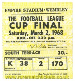1968 lc final LEEDS UTD 1 ARSENAL 0