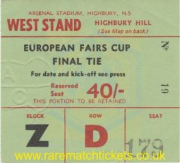 1970 fairs cup final 2nd ARSENAL 3 ANDERLECHT 0