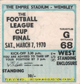 1970 lc final MANCHESTER CITY 2 WEST BROMWICH ALBION 1 [west]