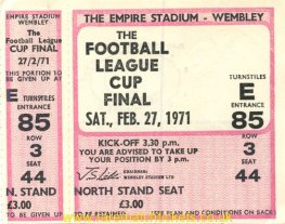 1971 lc final TOTTENHAM HOTSPUR 2 ASTON VILLA 0 (unused)