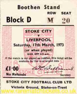 1972-73 div1 m34 STOKE CITY 0 LIVERPOOL 1