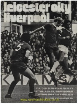 1973-74 fac sf replay LIVERPOOL 3 LEICESTER CITY 1 [VILLA PARK]