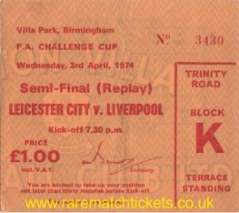 1973-74 fac sf replay LIVERPOOL 3 LEICESTER CITY 1