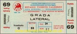 1974 ic final 2nd ATLETICO MADRID 2 INDEPENDIENTE 0 (unused)