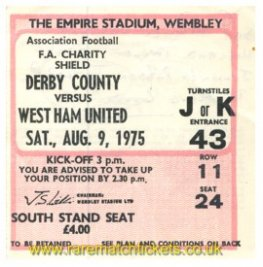 1975 cs DERBY COUNTY 2 WEST HAM UTD 0