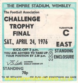 1976 fa trophy final SCARBOROUGH 3 STAFFORD RANGERS 2