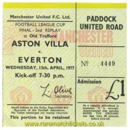 1977 lc final replay 2 ASTON VILLA 3 EVERTON 2