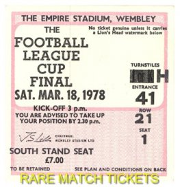 1978 lc final NOTTINGHAM FOREST 0 LIVERPOOL 0 [south stand]