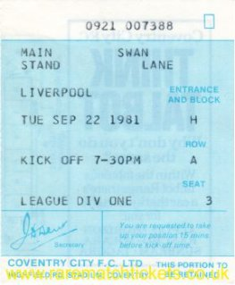 1981-82 div1 m06 COVENTRY CITY 1 LIVERPOOL 2