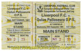 1981-82 ec r1 2nd LIVERPOOL 7 OULUN PALLOSEURA 0 (unused) [ms]