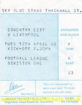 1982-83 div1 m36 COVENTRY CITY 0 LIVERPOOL 0