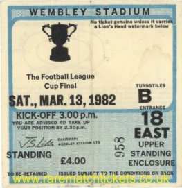 1982 lc final LIVERPOOL 3 TOTTENHAM HOTSPUR 1 [east]