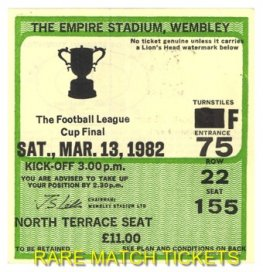 1982 lc final LIVERPOOL 3 TOTTENHAM HOTSPUR 1 [north terr]