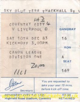 1983-84 div1 m17 COVENTRY CITY 4 LIVERPOOL 0