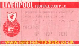 1985-86 div1 m25 LIVERPOOL 2 SHEFFIELD WEDNESDAY 2 [ms]