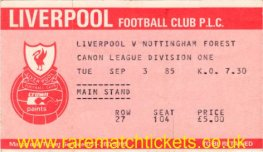 1985-86 div1 m06 LIVERPOOL 2 NOTTINGHAM FOREST 0 [ms]