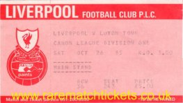 1985-86 div1 m14 LIVERPOOL 3 LUTON TOWN 2 [ms]