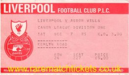 1985-86 div1 m20 LIVERPOOL 3 ASTON VILLA 0 [ms]