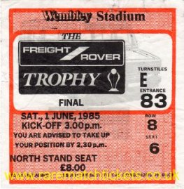 1985 flt [freight rover] final WIGAN ATHLETIC 3 BRENTFORD 1