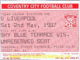 1986-87 div1 COVENTRY CITY 1 [LIVERPOOL] 0
