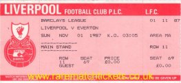1987-88 div1 m11 LIVERPOOL 2 EVERTON 0 (unused) [ms]