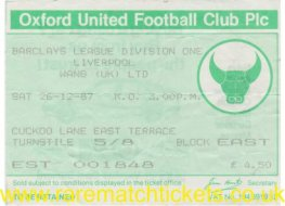 1987-88 div1 m20 OXFORD UTD 0 LIVERPOOL 3