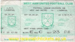 1987-88 div1 m03 WEST HAM UTD 1 LIVERPOOL 1 (unused)