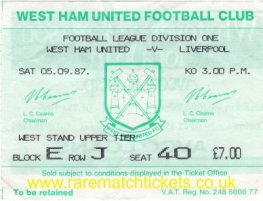 1987-88 div1 m03 WEST HAM UTD 1 LIVERPOOL 1
