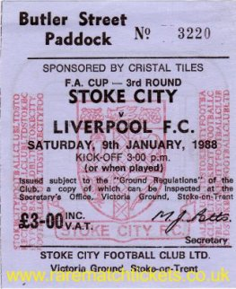 1987-88 fac3 STOKE CITY 0 LIVERPOOL 0