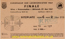 1987 ec final PORTO 2 BAYERN MUNICH 1