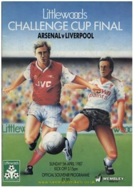 1987 LC final ARSENAL 2 LIVERPOOL 1