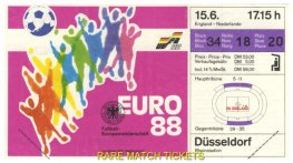 1988 ec grB m2 NETHERLANDS 3 ENGLAND 1 (unused)