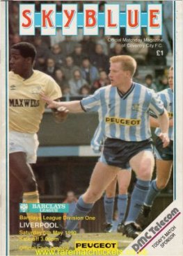 1989-90 div 1 m38 COVENTRY CITY 1 LIVERPOOL 6