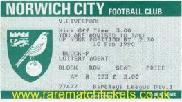 1989-90 div1 m26 NORWICH CITY 0 LIVERPOOL 0