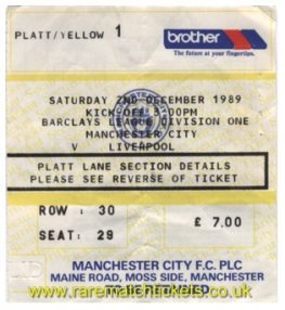 1989-90 div1 m16 MANCHESTER CITY 1 LIVERPOOL 4