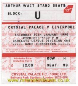 1989-90 div1 m24 CRYSTAL PALACE 0 LIVERPOOL 2