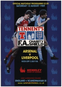 1989 charity shield LIVERPOOL 1 ARSENAL 0