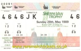 1989 flt [sherpa van] final BOLTON W 4 TORQUAY UTD 1 (unused)