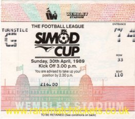 1989 fmc [simod cup] final NOTTINGHAM FOREST 4 EVERTON 3