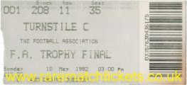 1992 fa trophy final COLCHESTER UTD 3 WITTON ALBION 1