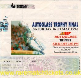 1992 flt [autoglass] final STOKE CITY 1 STOCKPORT COUNTY 0